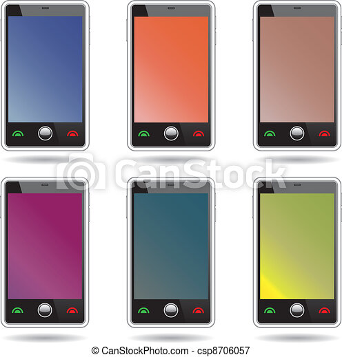 Una serie de teléfonos de pantalla abstracta. - csp8706057