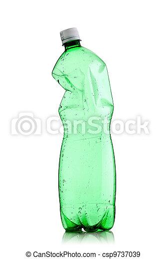 smashed water bottle - csp9737039