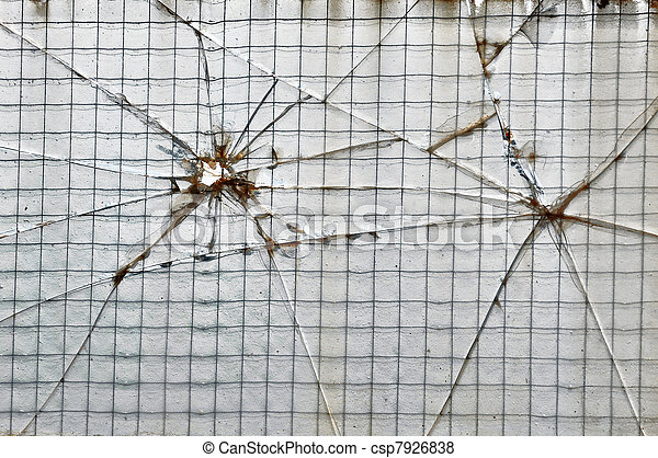 Smashed wire glass squares background. Smashed glass reinforced with ...