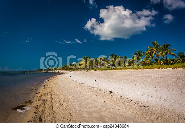 Smathers Beach, in Key West, Florida. - csp24048684