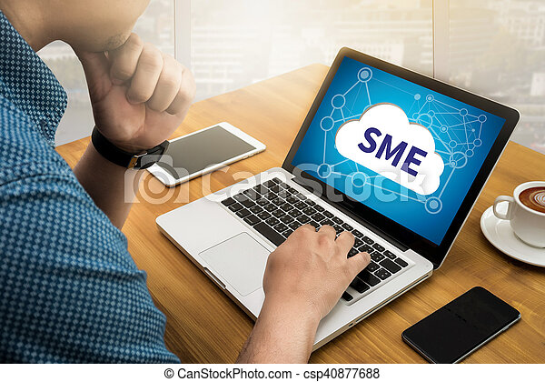 SME or Small and medium-sized enterprises - csp40877688