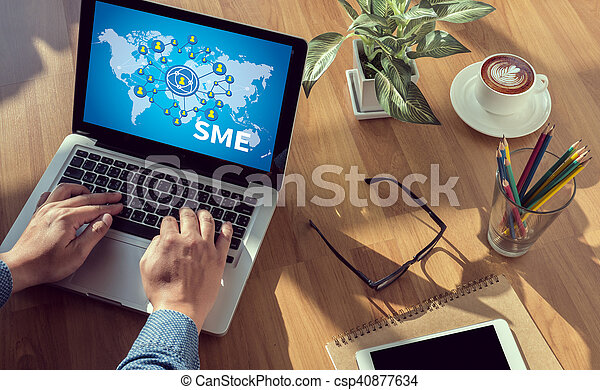 SME or Small and medium-sized enterprises - csp40877634