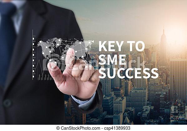 SME or Small and medium-sized enterprises KEY TO SME SUCCESS - csp41389933
