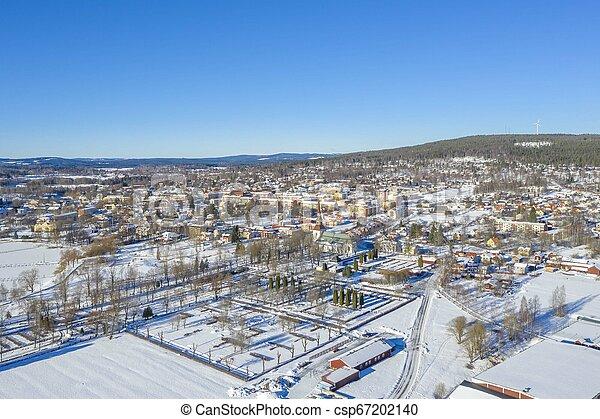 Smedjebacken in Sweden drone photo - csp67202140