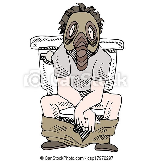 an image of a man sitting on a smelly toilet wearing gas eps vectors search clip art. Black Bedroom Furniture Sets. Home Design Ideas
