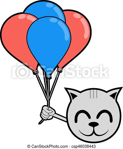 smile animal with balloons - csp46038443