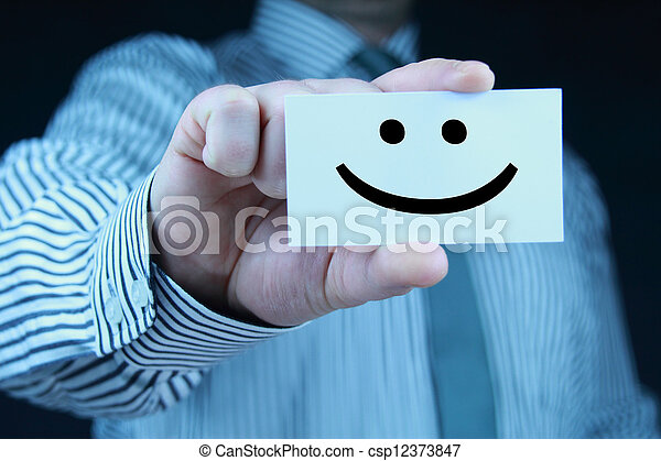 smile - business card - csp12373847