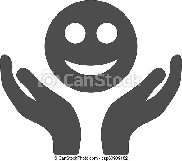 Smile Care Hands Flat Icon - csp60909182