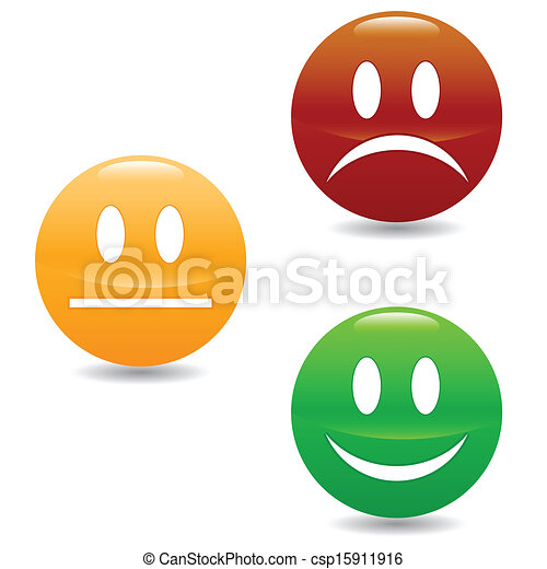 Smile colored buttons - csp15911916