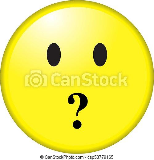Smile face question mark - csp53779165