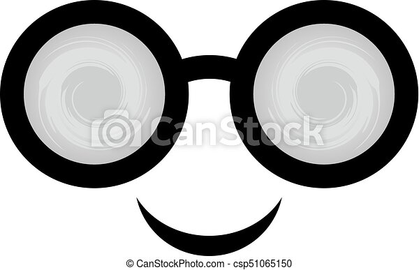 smile face with glasses - csp51065150