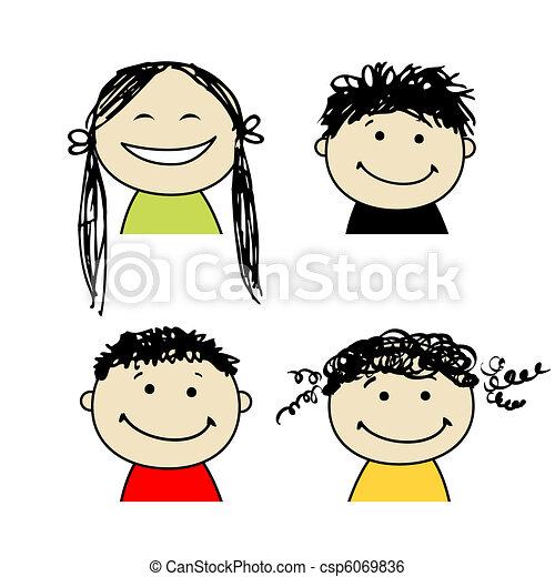 smile folk, konstruktion, din, iconerne - csp6069836