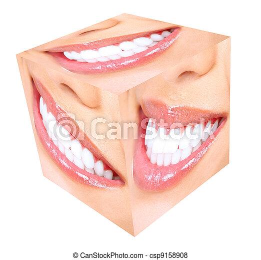 smile., frau, whitening., z�hne - csp9158908