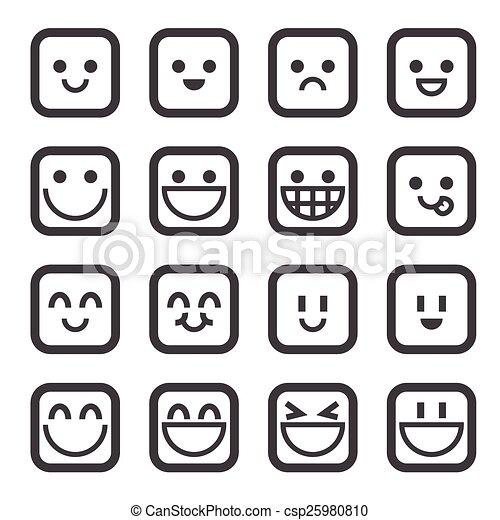 smile icon - csp25980810