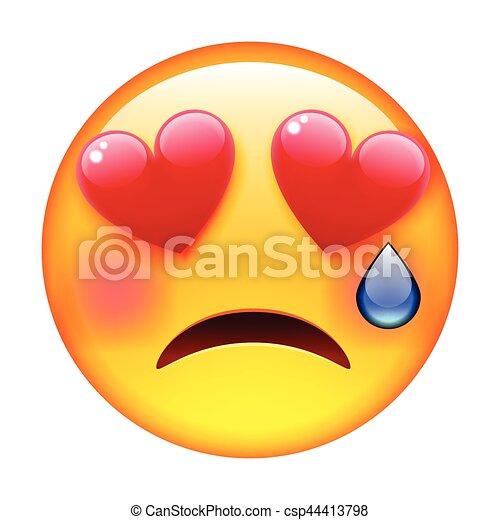 Smile In Love Crying Emoticon Emoji