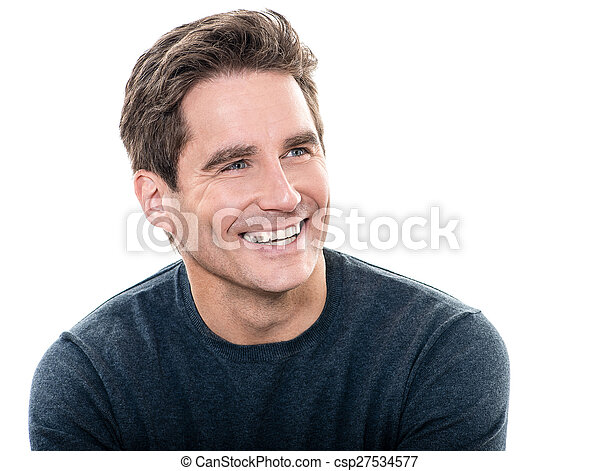 smile, pæn, mand, portræt, moden, toothy - csp27534577