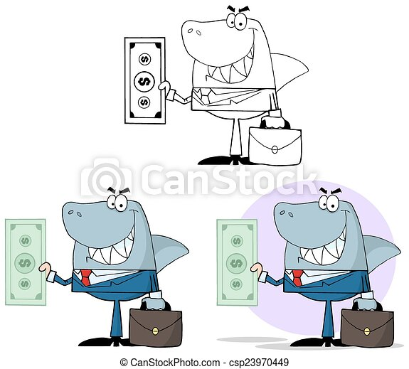 Smiled Business Shark. Collection - csp23970449