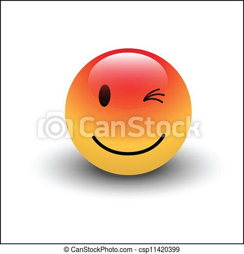smiley, まばたき - csp11420399