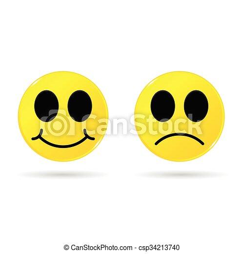 Ilustración amarilla sonriente - csp34213740