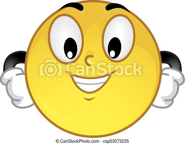 Ilustración arrogante y sonriente - csp53073235