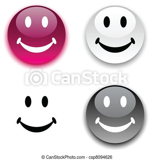 Smiley button. - csp8094626