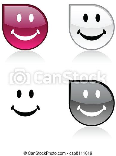 Smiley button. - csp8111619