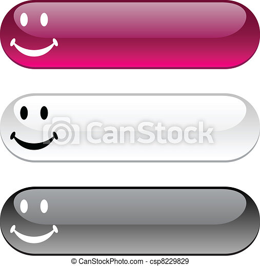Smiley button. - csp8229829