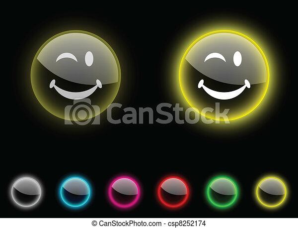 Smiley button. - csp8252174