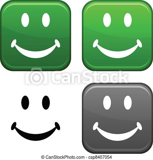 Smiley button. - csp8407054