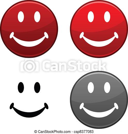 Smiley button. - csp8377083