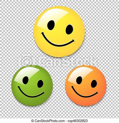 Smiley Button - csp46302823