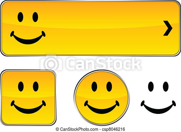 Smiley  button set. - csp8046216