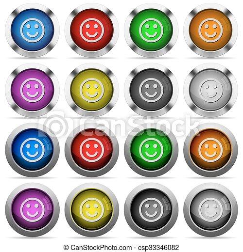 Smiley button set - csp33346082