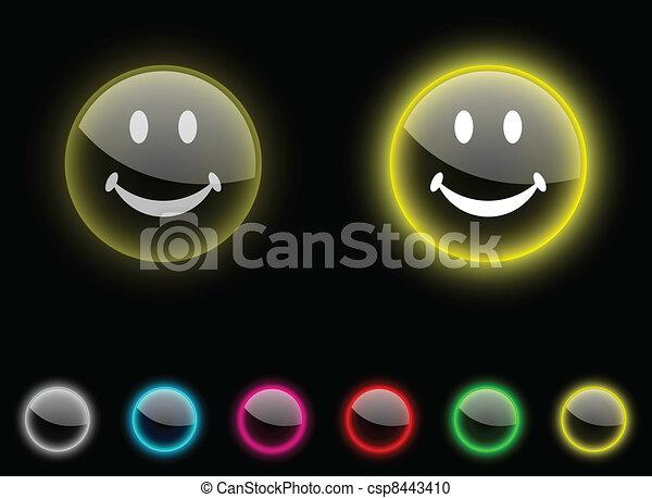 Smiley button. - csp8443410