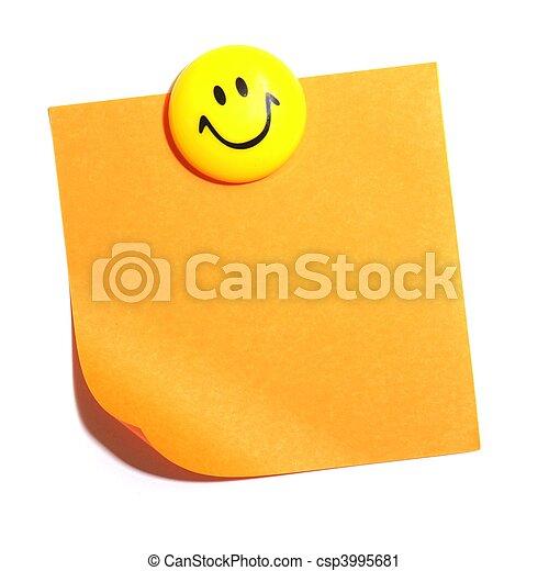 smiley, copyspace - csp3995681