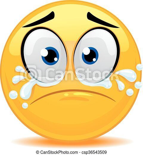 Vector Illustration Of Smiley Emoticon Crying Face