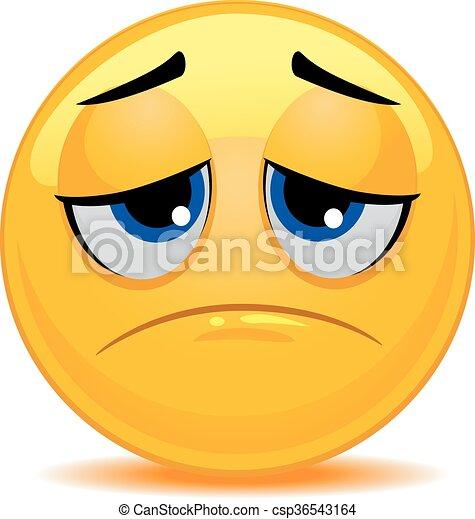 vector illustration of smiley emoticon sad face rh canstockphoto com vector facebook logo vector facelift