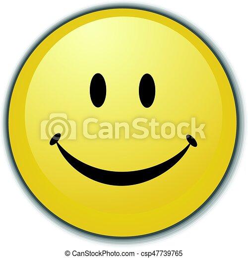 Smiley Face Button - csp47739765