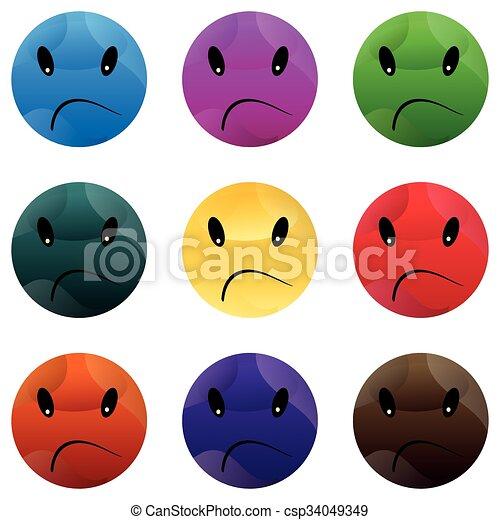 Smiley Face Button. - csp34049349