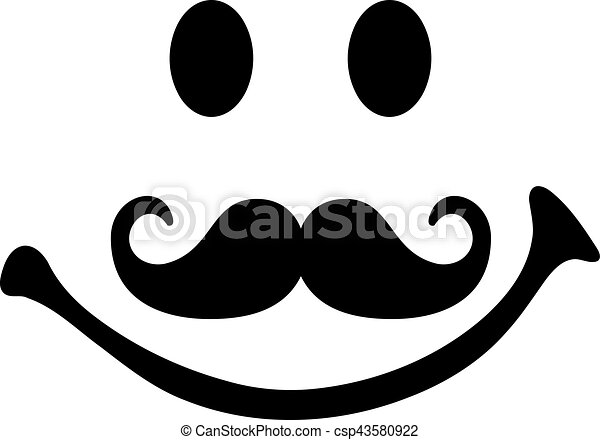 smiley face with mustache csp43580922