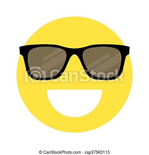 smiley face with sunglasses - csp37563113