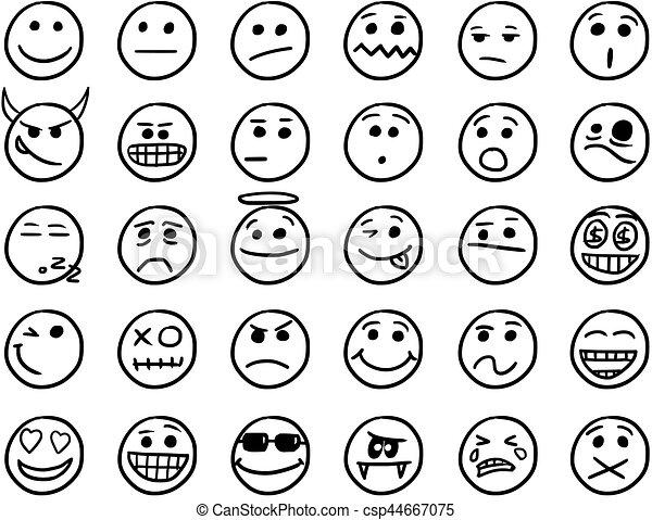 Smiley main vecteur noir dessins blanc ic ne ensemble ic nes smiley noir dessins - Dessins de smiley ...