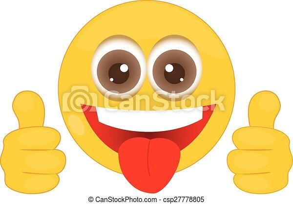Smiley con pulgares arriba - csp27778805
