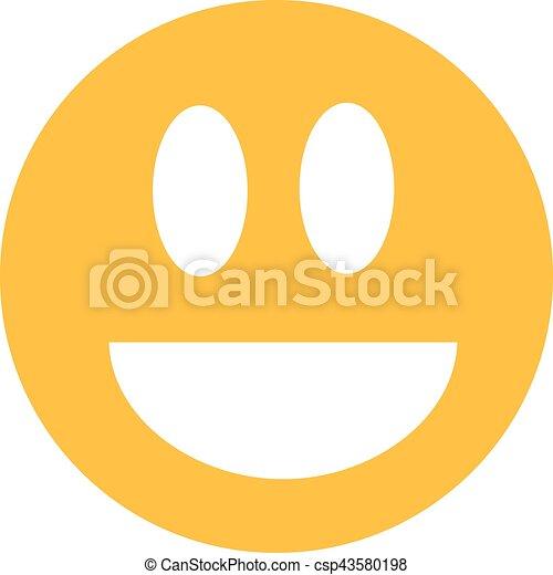 Sonriente de risa amarilla - csp43580198