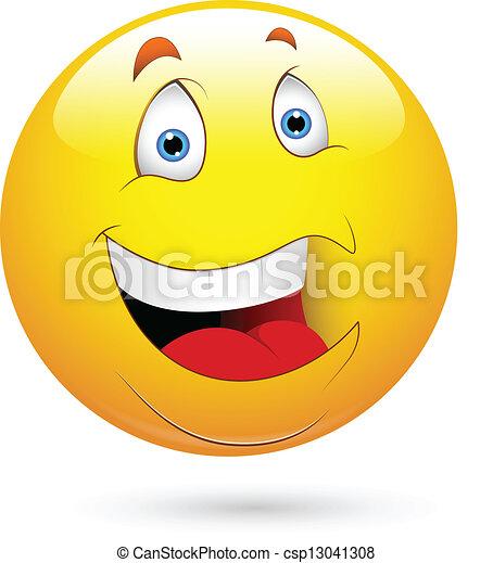 Cara sonriente y sonriente - csp13041308