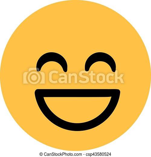 Clásica sonrisa sonriente - csp43580524