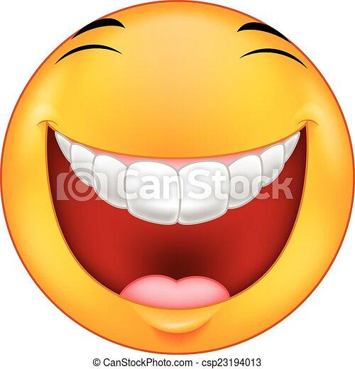 smiley, rir, caricatura - csp23194013
