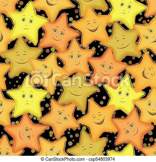 Smiley Seamless étoiles Modèle