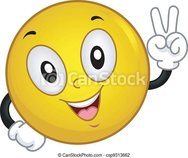 smiley, segno pace - csp9313662