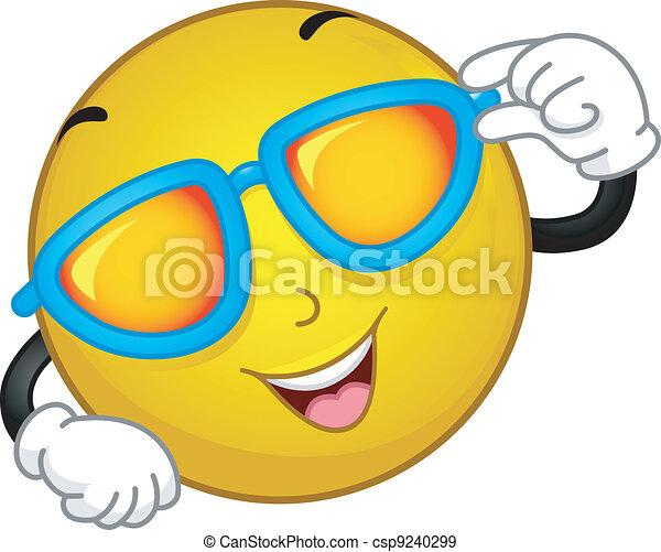 smiley, sunglasses - csp9240299